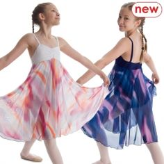 Made-to-order women's leotard with attached long patterned skirt and bra lining. This skirted dance leotard makes a lyrical or ballet great costume – especially for dance festivals. http://www.dancegeardirect.co.uk/product/dance-gear-patterned-lyrical-dress-child%27s
