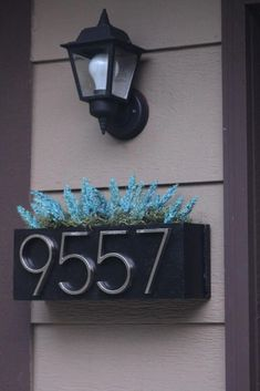 Home Improvement Projects, Home Projects, Home Renovation, Home Remodeling, House Address Numbers, Address Plaque, Diy House Numbers, Door Numbers, Front Entrances