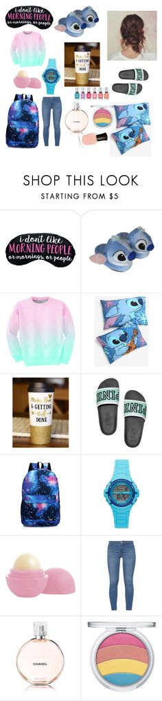 """""""Saturday"""" by natalie83322 ❤ liked on Polyvore featuring Disney, Aloha From Deer, Armitron, Eos, Dorothy Perkins, Chanel and Deborah Lippmann"""