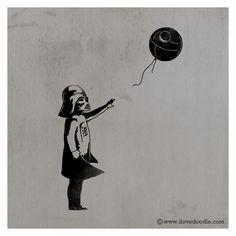 #starwars #darthvader #deathstar #banksy