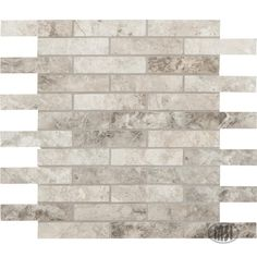 MSI Tundra Gray Interlocking 12 in. x 12 in. x 10 mm Polished Marble Mosaic Tile sq. / - The Home Depot Mosaic Wall Tiles, Marble Mosaic, Stone Mosaic, Shower Backsplash, Backsplash Ideas, Kitchen Backsplash, Kitchen Cabinets, Grey Flooring, Indoor Air Quality