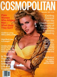 Cosmopolitan Fashion Magazine Nov 1989 - Vendela Cover - No Label - NM Cosmopolitan Magazine, Vogue Magazine, Fashion Outlet, 80s Fashion, Francesco Scavullo, 1990s Supermodels, Gia Carangi, Cosmo Girl, Candice Bergen
