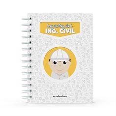 Cuaderno - Las notas del ingeniero civil, encuentra este producto en nuestra tienda online y personalízalo con un nombre. Notebook, Engineer, Notebooks, Report Cards, Store, The Notebook, Exercise Book