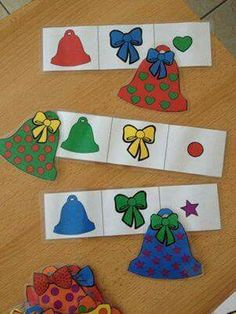 Christmas Art Projects, Christmas Crafts For Kids, Christmas Activities, Christmas Diy, Activities For Kids, Xmas, Montessori, Visual Perception Activities, Fete Halloween