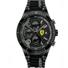 Relógio Scuderia Ferrari Masculino Borracha Preta - 830262