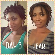 I just hit my one year mark cultivating my locs.  I started a month before my daughter's birth on June 8th, 2014.  :)