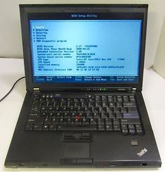 """Lenovo T61 14.1"""" Laptop Core 2 Duo 2.2GHz 2GB RAM DVDR CDRW NO HDD AS-IS"""