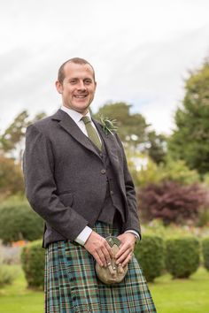 #wedding #groom #kilt #tweed