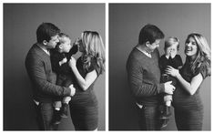 Bland and white family studio session