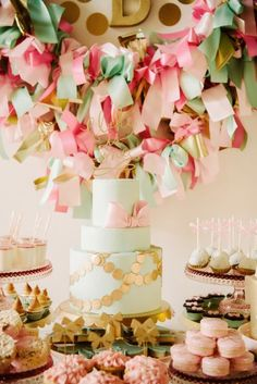 Bow themed birthday party. By My Sweet & Saucy on Fawn Over