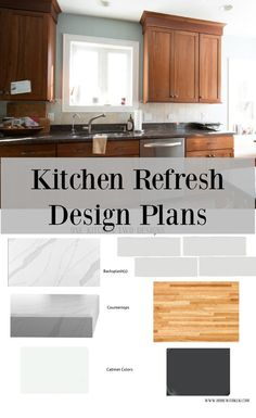 From painted cabinets to new countertops, sharing my easy kitchen refresh plans #lowespartner #kitchendesign #sponsored