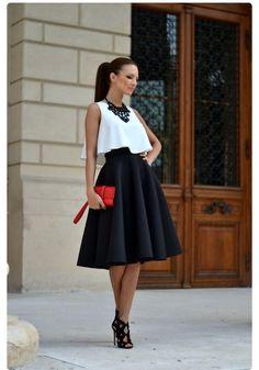 Vestido coctel, moda mujer, falda