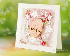 kartki wielkanocne ręcznie robione - Szukaj w Google Easter Projects, Easter Crafts, Holiday Cards, Christmas Cards, Handmade Greetings, Diy Cards, Seasons, Paper, Easter Card