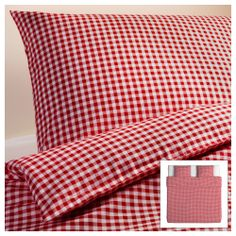 VINTER 2014 Duvet cover and pillowcase(s) - Full/Queen (Double ... : red gingham quilt - Adamdwight.com