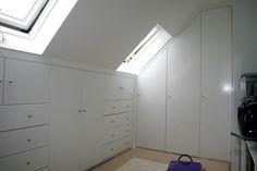 Custom wardrobe in attic