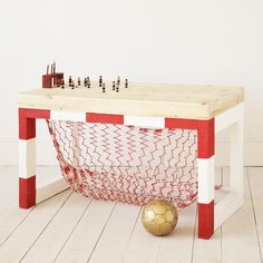Soccer Goal/table - wish I had this as a kid - JAN table