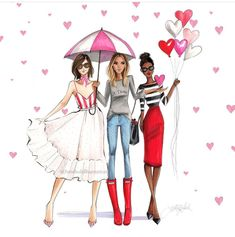 No shortage of color in Flatts Village �🇧🇲 Fashion Painting, Fashion Art, Fashion Design, Bff Drawings, Fantasias Halloween, Copic Art, Beauty Illustration, Cartoon Pics, Sketch Design