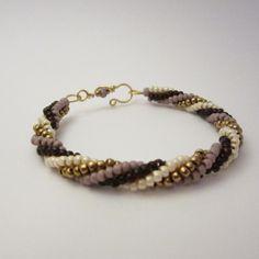 Twisted tubular herringbone bracelet