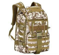 ca19a7cc0d4d Military Tactical MOLLE Backpack For Hiking Trekking Travel - 7 Colors