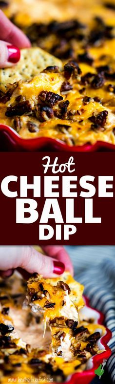 If you're a fan of the ever-so-famous cheese ball, you're not going to want to miss this baked cheese ball dip! It's just like your favorite cheese ball, all warmed up and ready for dunking your favorite bread or cracker. Also, I went grocery shopping in my pajamas and didn't get out of the car! Say what?! AD #groceryhero