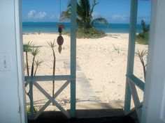 Looking out from Cottage - North Beach, Barbuda. 20min flight or 90min ferry ride from sister island of Antigua, with a 20min boat ride to North Beach. Beach cottages are a low key alternative to typical Caribbean resorts.  (www.barbudanorthbeach.com)