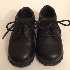 Stride Rite Boys Black Leather Dress/Casual Shoe James Lace-Up Size 7.5 W #StrideRite #James