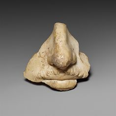 Fragment from a marble head of a man, preserving the nose and mouth. Antonine period, mid-2nd century A.D. Roman. The Metropolitan Museum of Art, New York. Rogers Fund, 1923 (23.160.85) #noses #Connections