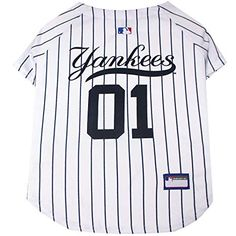 New York Yankees Dog Jersey MLB Baseball Officially Licensed Pet Product.  Semihigh Chain Store 5870b7333