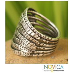 @Overstock - Accent ringSterling silver jewelryClick here for ring sizing guidehttp://www.overstock.com/Worldstock-Fair-Trade/Sterling-Silver-Forest-Harmony-Ring-Thailand/7541856/product.html?CID=214117 $34.99