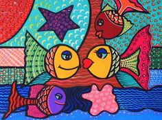 Madhubani Art, Mosaic Crafts, School Decorations, Arte Pop, Fish Art, Craft Work, Pattern Wallpaper, Art Images, Art Lessons
