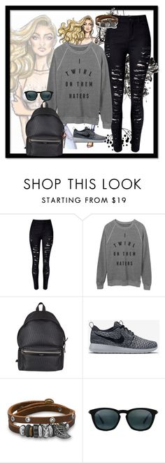 """Untitled #9"" by emirdelic ❤ liked on Polyvore featuring Yves Saint Laurent, NIKE, BillyTheTree and Maui Jim"