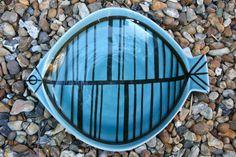 LISA LARSON STIM GUSTAVSBERG 1950's FISH DISH PLATE MID CENTURY MODERN SWEDEN | eBay
