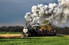 Strasburg RR Steam Train and Green Field Lancaster County, PA  J.P. Bell's photography