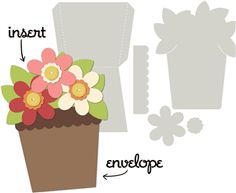 Silhouette Design Store - View Design #8696: card kit flower pot
