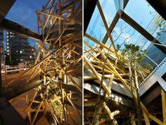 Urban Woods: Parasitic Wooden Exoskeleton in Osaka Will Soon B...