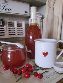 Šípkový sirup  Šípkový sirup jsem letos dělala poprvé a myslím, že už budu rok co rok... Je plný vitamínů a samých prospěšnýc... Home Canning, Pavlova, Hot Sauce Bottles, Preserves, Tea Time, Spices, Food And Drink, Herbs, Mugs