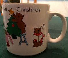 WHITE RUSS ITS BEGINNING TO LOOK A LOT LIKE CHRISTMAS MUG BEARS TREE SLED WREATH #Russ