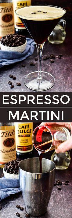 Espresso Martini – Lemon Tree Dwelling Frozen Drink Recipes, Easy Drink Recipes, Best Cocktail Recipes, Sangria Recipes, Drinks Alcohol Recipes, Beer Recipes, Punch Recipes, Smoothie Recipes, Cooking Recipes