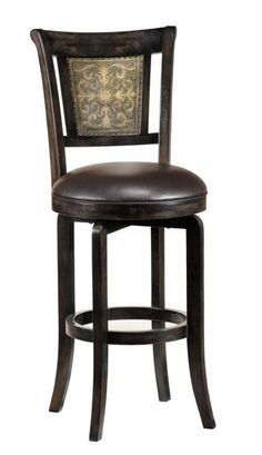 Swivel Counter Stool - Metal Back Detail, Distressed Finish  http://homegallerystores.com/shop/hillsdale/bar_stools/swivel_counter_stool_2.html