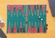 Learn how to make a travel Backgammon board!