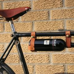 Bicycle Wine Rack ... Interesting if you like living on the edge