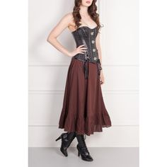 Black Ribbon Buckle Corset Top