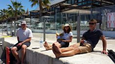 Crew enjoying the free chocolate from the latest YPD in Palma Chocolate, Free, Image, Chocolates, Brown