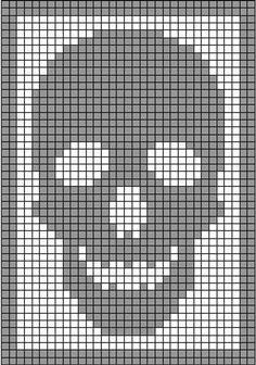 Bobble Stitch Crochet, Graph Crochet, Filet Crochet Charts, Knitting Charts, C2c Crochet, Crochet Squares, Chrochet, Crochet Ornament Patterns, Crochet Skull Patterns