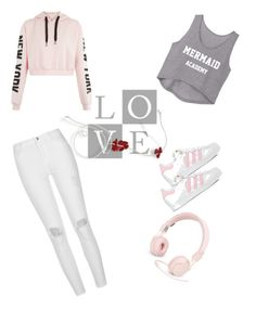 """""""Beautiful set !!"""" by milenataglia ❤ liked on Polyvore featuring River Island, Urbanears and adidas"""