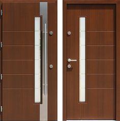 Drzwi wejściowe z kolekcji INOX model 441,1-441,11+ds2 produkcji AFB-Kraków