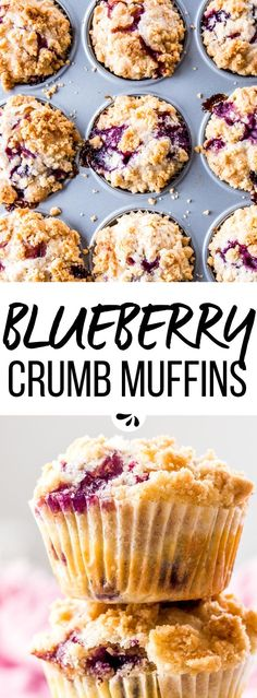 The Only Recipe for Blueberry Muffins You'll Ever Need - this recipe makes the best homemade blueberry muffins. They're moist, delicately flavored with lavender and covered with an easy crumble topping. Fresh blueberries, yogurt and the streusel make them extra special for a decadent brunch - it is so simple to make a scrumptious treat from scratch! via @savorynothings