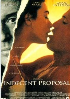indecentproposal starring Robert Redford, Woody Harrelson and Demi Moore Best Movie Posters, Original Movie Posters, Good Movies To Watch, Great Movies, Movies Showing, Movies And Tv Shows, Movie Theater, Movie Tv, Indecent Proposal