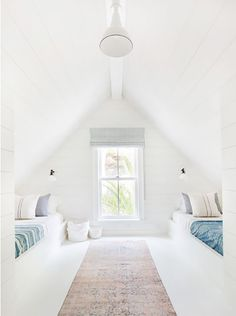 Fresh white kids room with vintage textiles in converted attic space. 25 Beautiful Interior Modern Style Ideas Trending This Summer – Fresh white kids room with vintage textiles in converted attic space. Attic Bedroom Designs, Attic Bedrooms, Bedroom Loft, Bedroom Decor, Extra Bedroom, Loft Room, Bedroom Ideas, Bedroom Colors, Attic Bedroom Kids