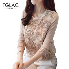 FGLAC Women clothing New 2017 Autumn long sleeved lace tops Elegant Slim Hollow out chiffon blouse Women tops  #lovefashion #instagood #follow4follow #follow #friends #summer #womenfashion #latestfashion #tagsforlikes #latesttrend